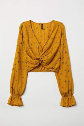 H&M V-neck Blouse - Yellow