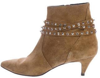Saint LaurentSaint Laurent Embellished Suede Ankle Boots