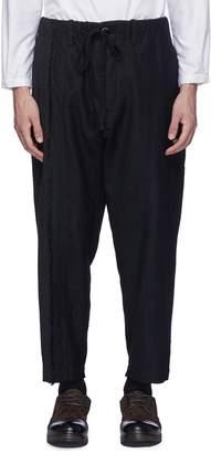 Uma Wang 'Pigiama' micro check panel twill jogging pants