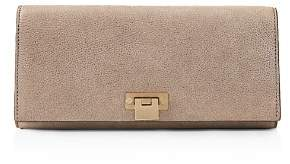 Reiss Audley Metallic Leather Clutch
