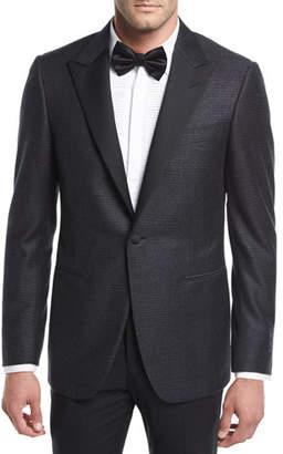 Canali Houndstooth Plaid Tuxedo Jacket