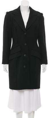 Thierry Mugler Knee-Length Wool Coat