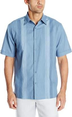Cubavera Cuba Vera Men's Short Sleeve Panel Woven Shirt