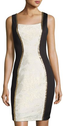 JAX Colorblock Sleeveless Sheath Dress, Gray/Black $119 thestylecure.com