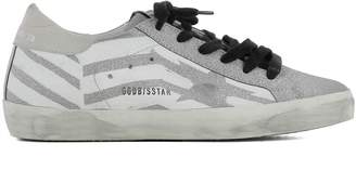 Golden Goose Silver Leather Superstar Sneakers