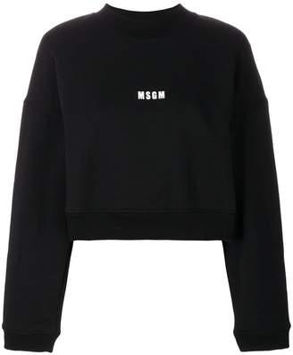 MSGM cropped mini logo sweatshirt
