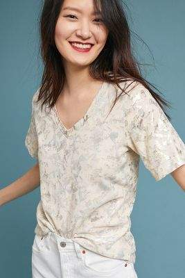 Sol Angeles Foiled Floral Tee