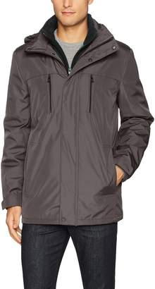 Kenneth Cole Reaction Men's Bonded Midweight Jacket with Fleece Zip Bib