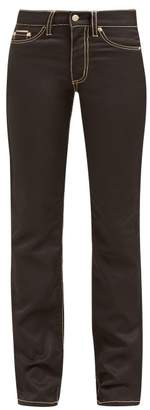 Eytys Cypress High Waisted Twill Jeans - Womens - Black