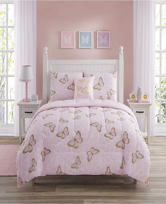 Sanders Cindy Butterfly Full 4 Piece Comforter Set Bedding