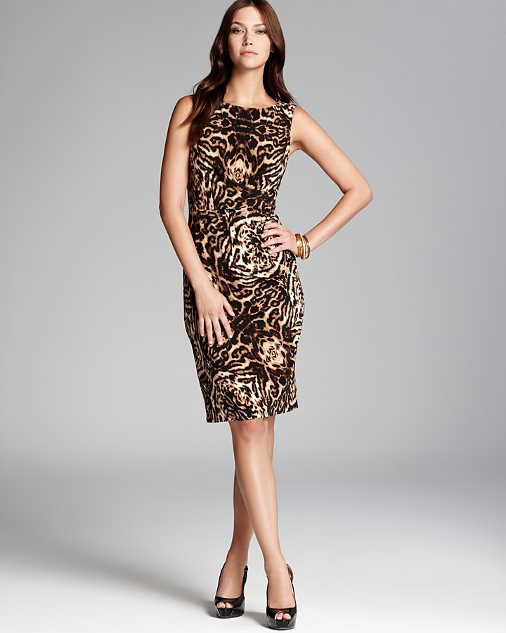 Anne Klein Leopard-Print Dress - Sleeveless