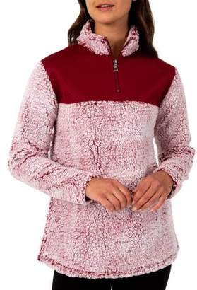 Athletic Works Women's Super Plush 1/4 Zip Pullover With Quilted Yoke