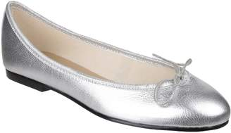 French Sole India Metallic Silver Leather