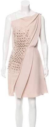 Genny Embellished Knee-Length Dress w/ Tags Pink Embellished Knee-Length Dress w/ Tags