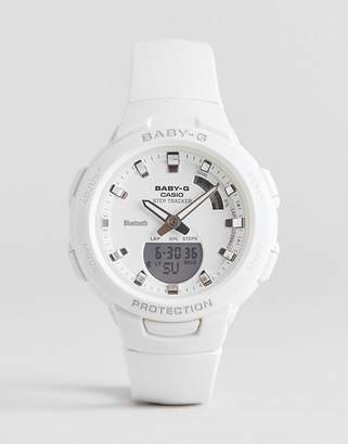 Casio Baby G step tracker silicone watch in white