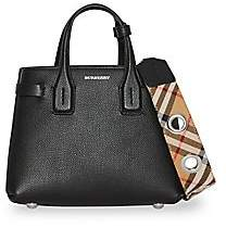 Burberry Women's Baby Banner Vintage Check Leather Satchel