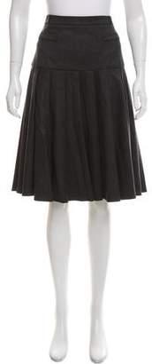 Oscar de la Renta Pleated Wool Skirt w/ Tags