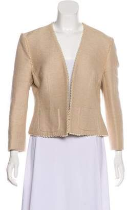 L'Agence Tweed Open-Front Blazer