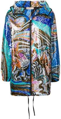 Emilio Pucci abstract print rain coat