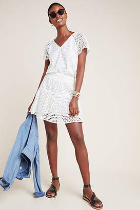 Frye x Anthropologie Talia Eyelet Mini Skirt