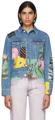 Loewe Indigo Paulas Ibiza Edition Patchwork Denim Jacket
