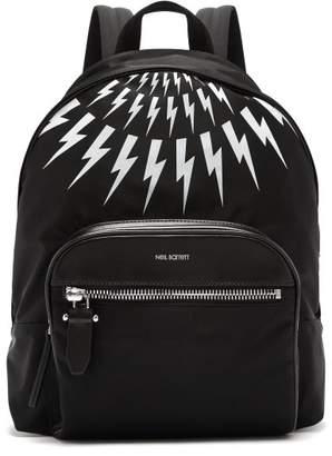Neil Barrett - Fairisle Lightning Bolt Nylon Backpack - Mens - Black White