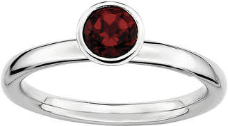 JCPenney FINE JEWELRY Personally Stackable Genuine Garnet Sterling Silver Stackable Ring