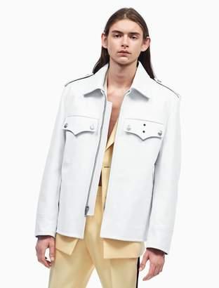 Calvin Klein oversized policeman leather jacket