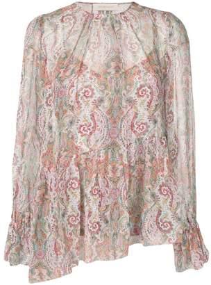 Zimmermann paisley print blouse