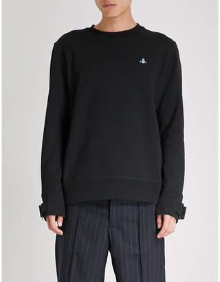 Vivienne Westwood Buckle-cuff cotton-jersey sweatshirt