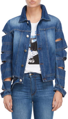 Each X Other Sliced Sleeve Denim Jacket
