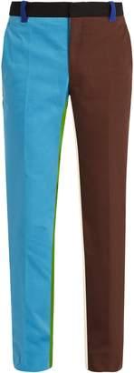 Calvin Klein Block-colour cotton-denim trousers