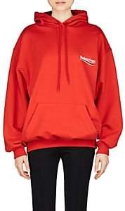 Balenciaga Women's Logo-Print Cotton Terry Hoodie - Red