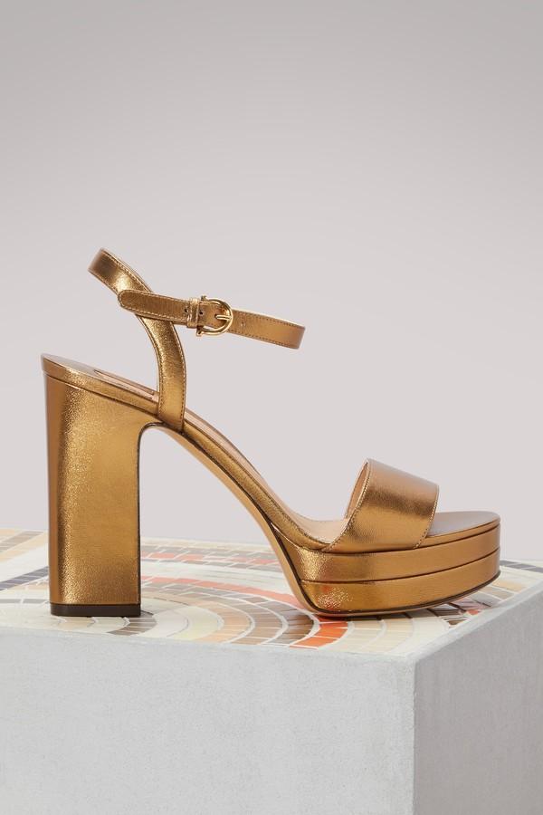 Salvatore Ferragamo Trento leather sandals