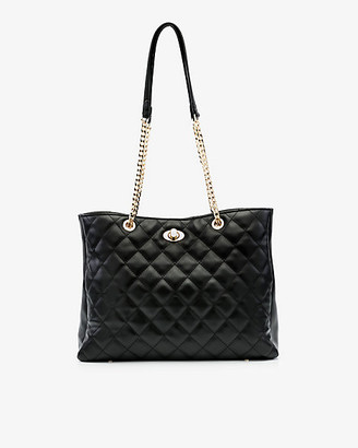 Le Château Faux Leather Quilted Tote Bag