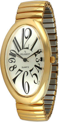 Peugeot Womens Gold-Tone Stainless Steel Expansion Bracelet Watch 7098G