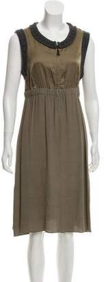 Hache Sleeveless Midi Dress