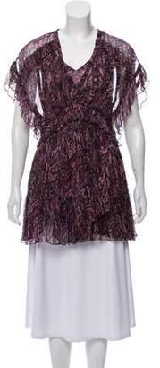 IRO Printed Mini Dress