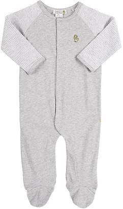 Barneys New York Infants' Solid & Striped Footed Coverall