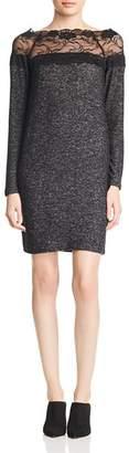 Vero Moda Cima Lace Inset Melange Dress
