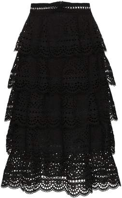Zimmermann tali tiered swirl skirt