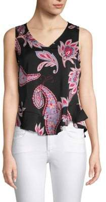 Nanette Lepore Paisley Sleeveless Top