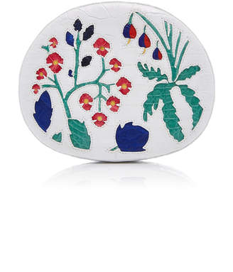 Nancy Gonzalez Round Floral Crocodile Clutch