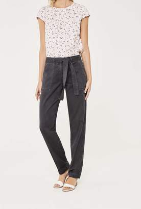 Long Tall Sally Tie Waist Washed Casual Trouser