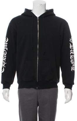 Chrome Hearts Logo Graphic Zip-Up Hoodie