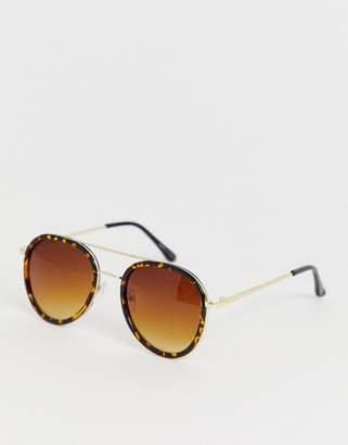 Vero Moda tortoiseshell avaitor sunglasses