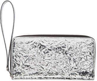 MM6 MAISON MARGIELA Silver Crinkled Wallet