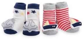 Elegant Baby Baby's Nautical Rattle Sock Set