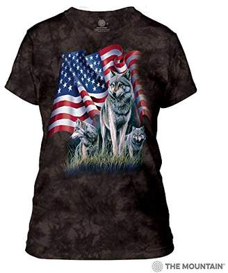 The Mountain Wolf Flag Adult Woman's T-Shirt