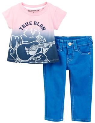 True Religion Buddha Tee & Pant Set (Baby Girls) $79 thestylecure.com